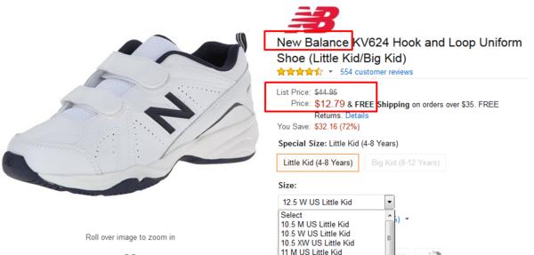 New Balance Kv624 Little Kid