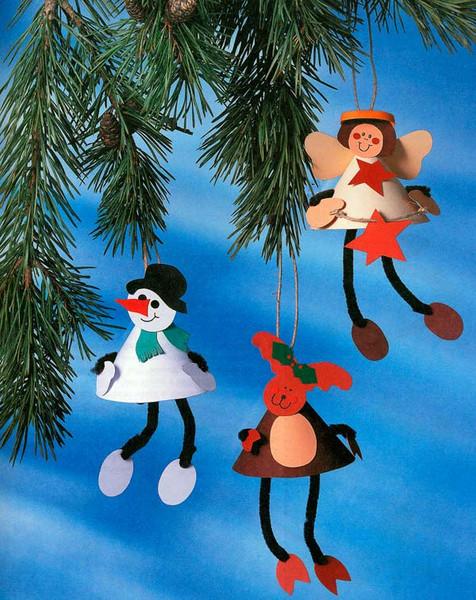 Новогодние игрушки своими руками из бумаги с
